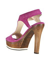 Jimmy Choo   Pink Fuchsia Suede Nixon Platform Sandals   Lyst