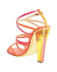 Jimmy Choo - Hot Pink Strappy Leather Poppy Sandals - Lyst