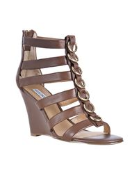 Kelsi Dagger Brooklyn | Light Brown Leather Juno Wedges | Lyst