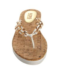 Kors by Michael Kors | White Leather and Chain Link Addi Sandals | Lyst