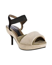 Marni - White Ivory and Grey Layered Suede Platform Sandals - Lyst