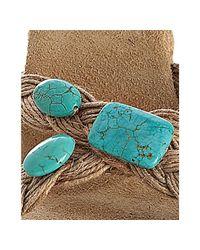 Michael Kors - Brown Turquoise Braided Brag Slide Wedges - Lyst