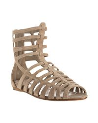 Miu Miu | Natural Desert Suede Gladiator Sandals | Lyst