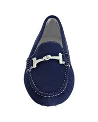 Tod's - Blue Suede Gommini Driving Loafers - Lyst