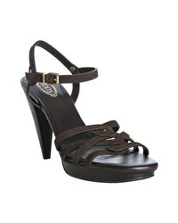 Tod's | Brown New Sasha Sandals | Lyst