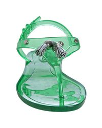 Tod's - Green Transparent Tassel Detail Jelly Thongs - Lyst