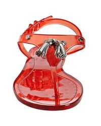 Tod's | Red Transparent Tassel Detail Jelly Thongs | Lyst