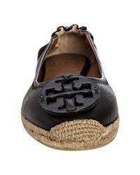 Tory Burch - Brown Coconut Leather Joy Espadrille Flats - Lyst