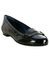 Saint Laurent - Black Sea Blue Patent Preppy Penny Loafers - Lyst