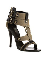 Balmain | Khaki Green Canvas Legion Gladiator Sandals | Lyst
