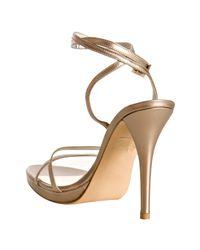 Stuart Weitzman - Pale Pink Kid Leather Gloalign Strappy Sandals - Lyst