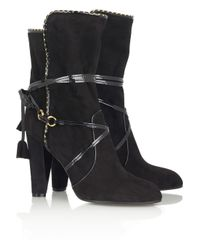Marc Jacobs | Black Tassel-detail Suede Boots | Lyst