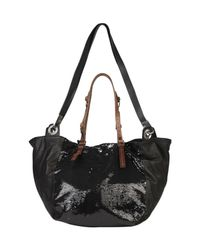 Pauric Sweeney | Black Sequin Panel Leather Tote | Lyst