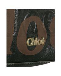 Chloé | Black Coated Canvas Eclipse Shoulder Bag | Lyst