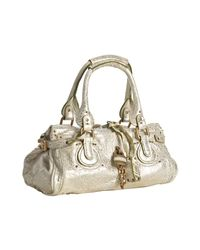 Chloé | Metallic Gold Leather Paddington Small Shoulder Bag | Lyst