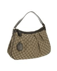 Gucci | Black Ebony Gg Canvas Sukey Hobo | Lyst