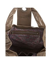 Marc By Marc Jacobs - Brown Pebble Textured Patent Posh Turnlock Hobo - Lyst