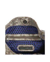Rebecca Minkoff | Metallic Washed Silver Distressed Leather Mini Rikki Shoulder Bag | Lyst
