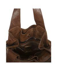Kooba - Brown Leather Anna Buckle Detail Shoulder Bag - Lyst