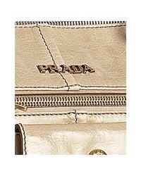 Prada - Quartz Pink Vitello Shine Leather Zip Detail Tote - Lyst