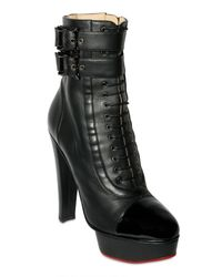 Charlotte Olympia - Black 145mm Nappa and Patent Toe Lace Up Boots - Lyst