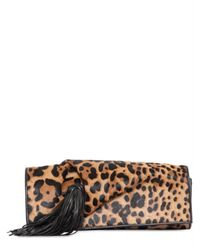 Christian Louboutin | Multicolor Eugenia Pony Leo Print Clutch | Lyst