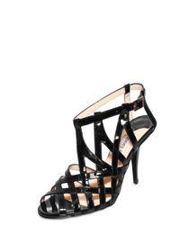 Jimmy Choo - Black Patent Owen Sandals - Lyst