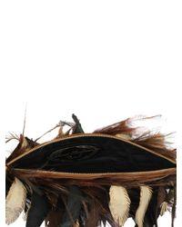 Raven Kauffman Couture   Metallic Lambskin Emu Feath Clutch   Lyst