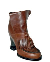 Tata Naka - Brown Leather Wedged Boots - Lyst