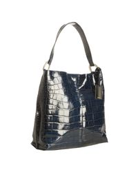 Furla - Blue Cobalt Croc Embossed Leather Shoulder Bag - Lyst
