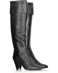 Giuseppe Zanotti - Black Slouchy Leather Boots - Lyst