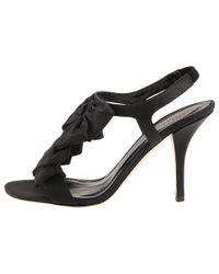 kate spade new york | Black Aisha T- Strap Sandals | Lyst