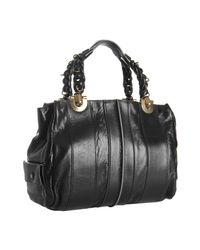 Chloé | Black Lambskin Leather Heloise Tote | Lyst
