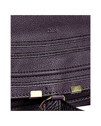 Chloé - Dark Purple Pebbled Calfskin Marcie Shoulder Bag - Lyst