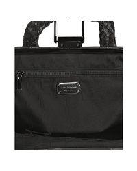 Ferragamo - Black Woven Leather Giovanna Handbag - Lyst