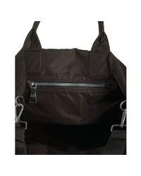 Prada - Black Nylon Color Block Tote Shoulder Bag - Lyst