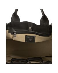 Prada - Gray Smoke Camouflage Nylon Leather Trim Shopping Tote - Lyst