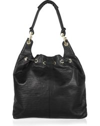 BCBGMAXAZRIA - Black Tejus Leather Hobo Bag - Lyst