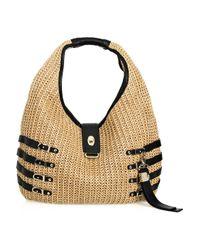 Jimmy Choo - Natural Bali Woven Raffia Hobo Bag - Lyst