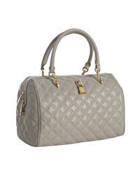 Marc Jacobs - Gray Grey Quilted Leather Westside Boston Bag - Lyst