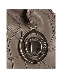 Dior - Gray Pigeon Cannage Lambskin Shearling Shoulder Bag - Lyst