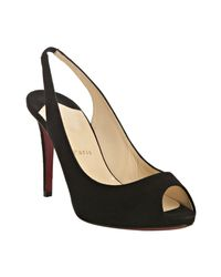 Christian Louboutin | Black Suede Lady Sling 100 Slingback Pumps | Lyst