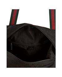 Gucci - Black Gg Canvas Web Stripe Carry-on Bag - Lyst