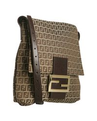 Fendi | Brown Mahogany Zucchino Canvas Messenger Bag | Lyst