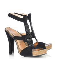 Pedro Garcia | Black Priscilla Suede Sandals | Lyst