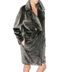See By Chloé   Gray Astrakhan Fur Coat   Lyst