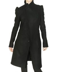 Todd Lynn | Black Wool Felt Coat | Lyst