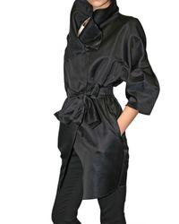 Viktor & Rolf | Black Structured Satin Coat | Lyst