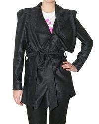 Vivienne Westwood | Black Lurex Coating Jacket | Lyst