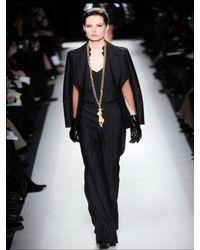 Saint Laurent - Black Wool Silk Gabardine Vest - Lyst